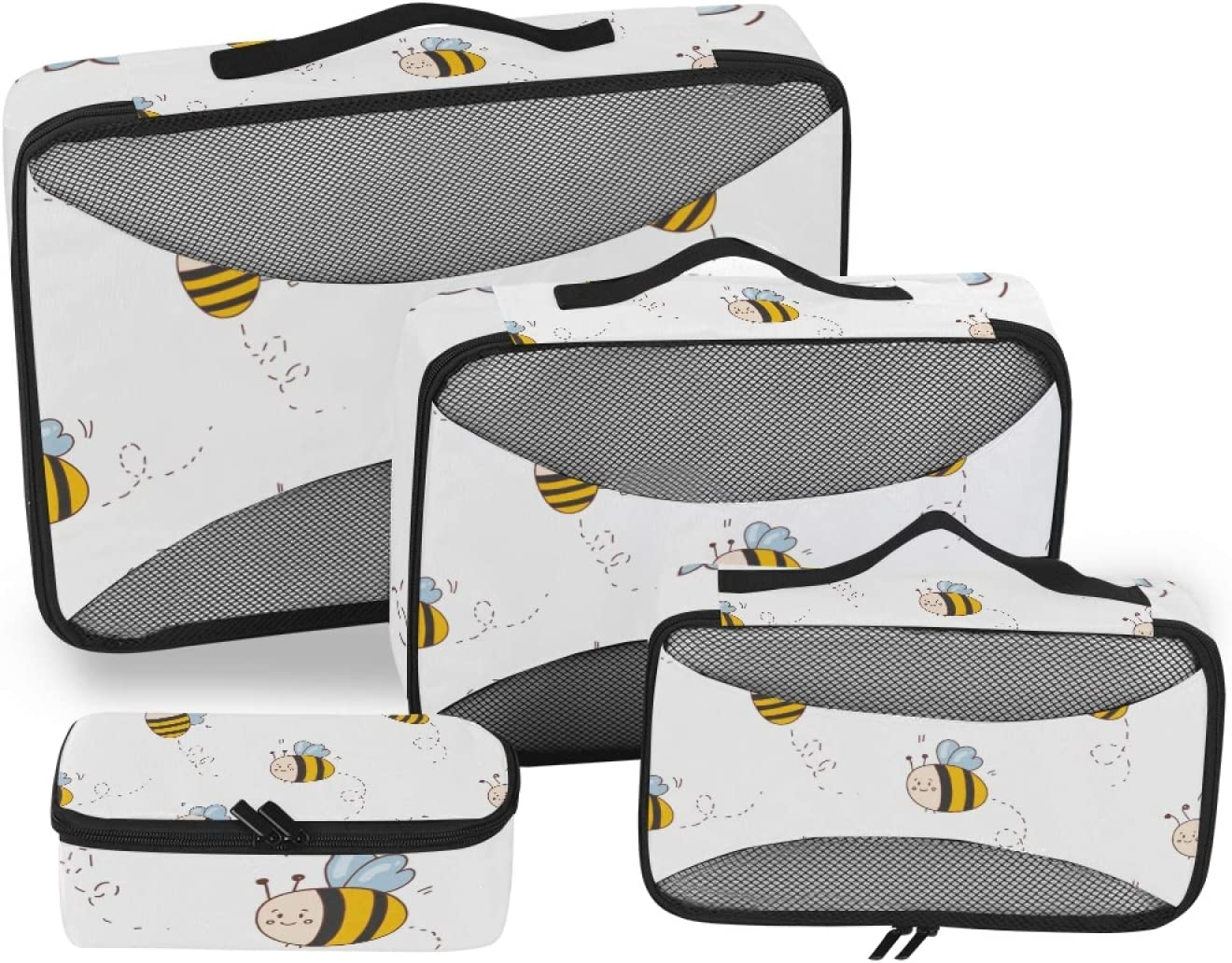 Honey Bees Packing Cubes 4-Pcs Selling Stor Ranking TOP11 Accessories Travel Organizer