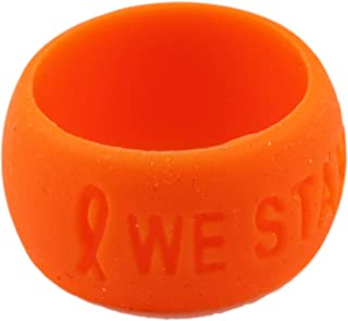 Orange Ribbon Awareness Silicone Comfort Ring Combo 1 Large & 1 Small