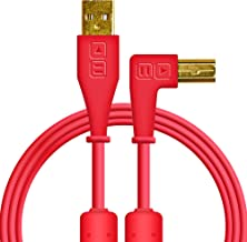 Chroma Cables: Audio Optimized USB-A to USB-B Right-Angle Cable (Red)