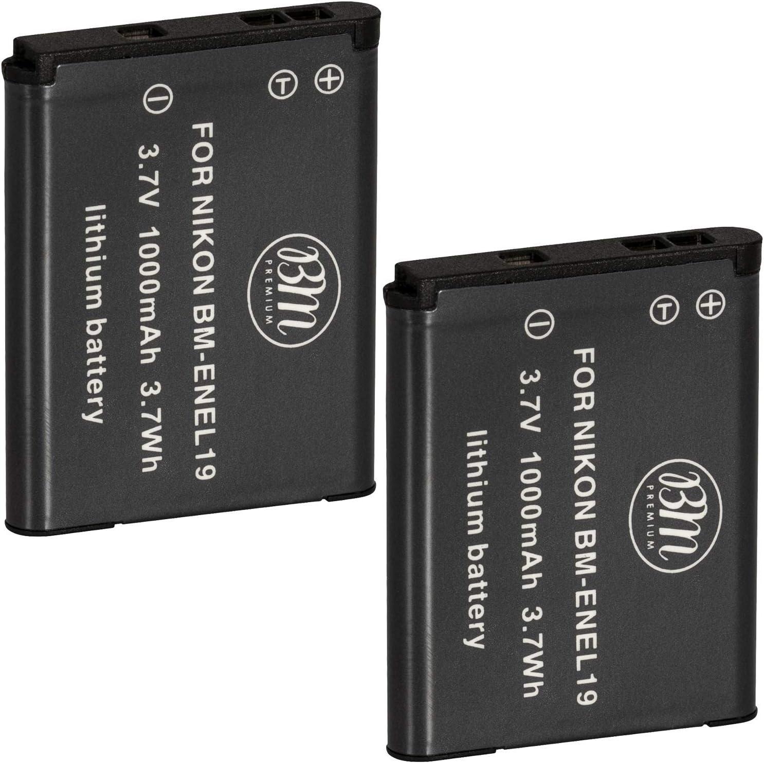BM New product!! Premium 2 EN-EL19 Sale special price Batteries for W15 A300 Nikon Coolpix W100