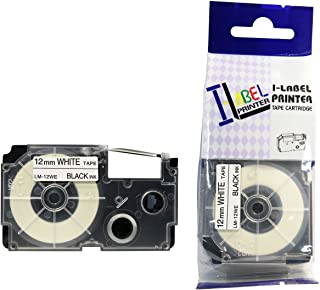 LM Tapes - Casio KL-60 12mm Black on White Compatible Label Tape for Casio KL60 EZ Label Printer