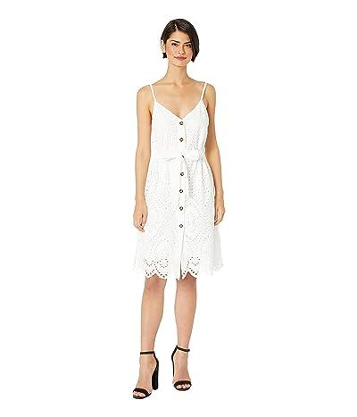 Bishop + Young Crochet Button Down Dress (White) Women