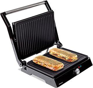 Mellerware - Hotty! Elektrische grill | 2200 W | anti-aanbaklaag | LED temperatuurregelaar | opening 180 ° | aanpasbare pl...