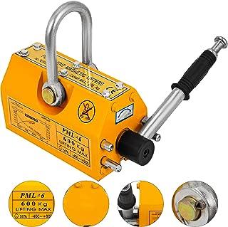 Happybuy Steel Magnetic Lifter 1320 LB Metal Lifting Magnet 600 KG Neodymium Magnetic Lift Hoist Shop Crane(600KG)