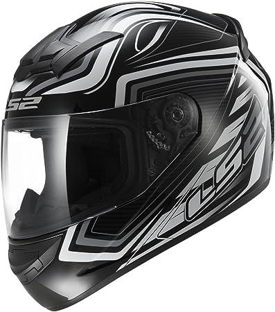 Xxs Nero//Bianco LS2 Casco Moto Ff352 Rookie Ranger