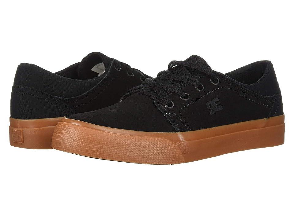 DC Kids Trase (Little Kid/Big Kid) (Black/Gum) Boys Shoes