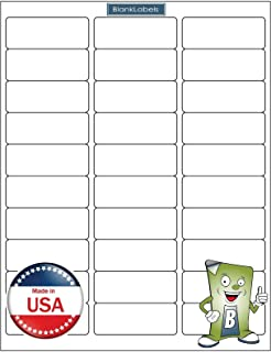 "75000 Blank Labels Brand Economy Grade Address Labels. Fits Word Size 2-5/8"" x 1"" (2.625 x 1) Ink Jet and Laser Guaranteed. Made in USA (2500 Sheets)"