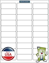 """3000 Blank Labels Brand Economy Grade Address Labels. Size 2-5/8"""" x 1"""" (2.625 x 1) Ink Jet and Laser Guaranteed. Made in USA (100 Sheets)"""