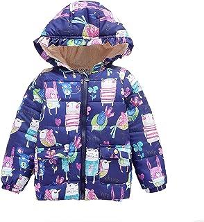 HWZZ 3-10 Años Niños Chica Chico Chaqueta Bebé Cremallera Invierno Grueso Largo Abrigo Caliente de la Moda de los Niños Ro...