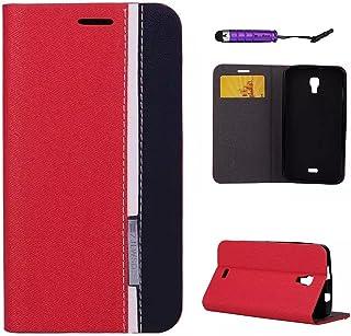 5fc6fc2bd80 FindaGift Wiko Bloom Funda Case, Golpear el Color Diseño PU Caso Funda de  Cuero Flip