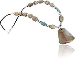 $350Tag Certified Silver Navajo Boulder Turquoise Native Necklace 370914519124 Made by Loma Siiva