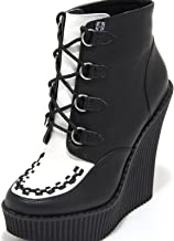 1179M tronchetti donna neri T.U.K. SHOES pelle ecopelle scarpe ankle boots women [40 EU-7 UK]