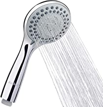 Tegollus Alcachofa de ducha universal para agua dura color plateado