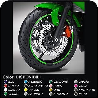 Pegatinas Adhesivos tiras de moto adhesivo para llantas motos bordes pegatinas GP moto tiras adhesivas llantas