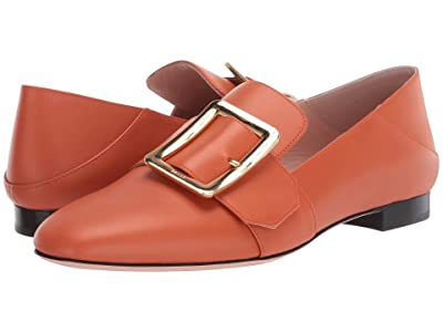Bally Janelle Buckle Flat (Mandarino) Women