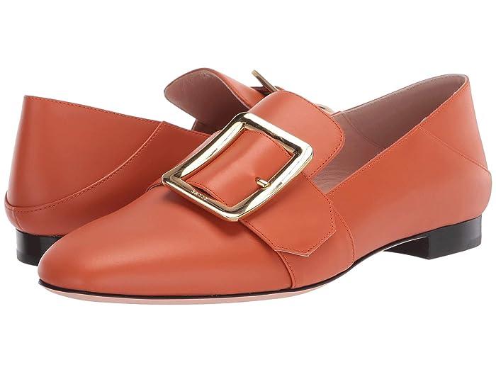 Bally  Janelle Buckle Flat (Mandarino) Womens Flat Shoes