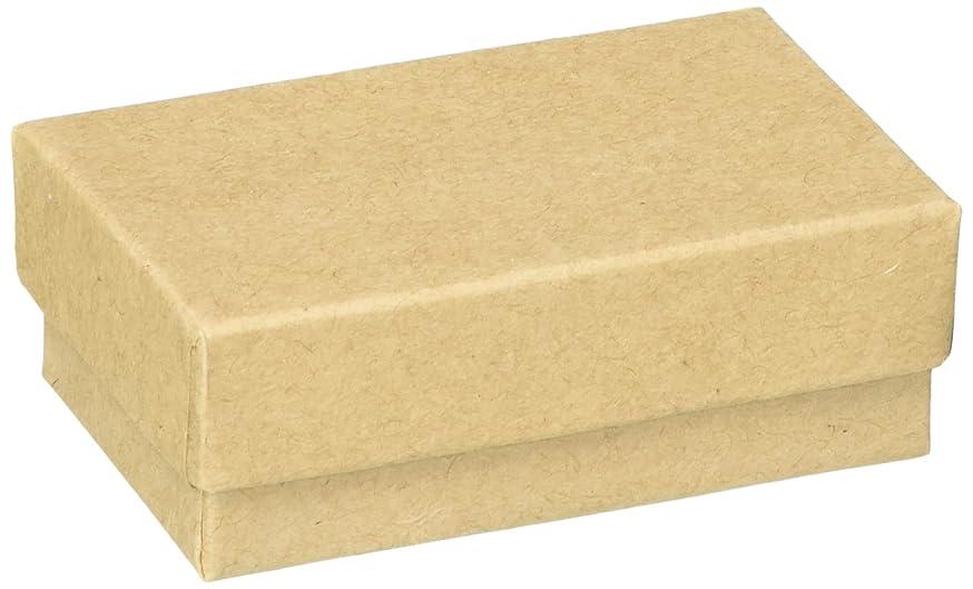 Beadaholique BX2721 K Kraft Brown Cardboard Jewelry Boxes (100 Pack), 2.5 x 1.5 x 1