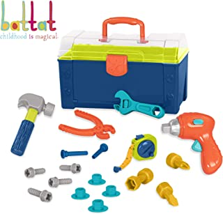 Battat – Battat Busy Builder Tool Box – Durable Kids Tool Set – Pretend Play Construction Tool Kit for Kids 3 years+ (20-Pcs)