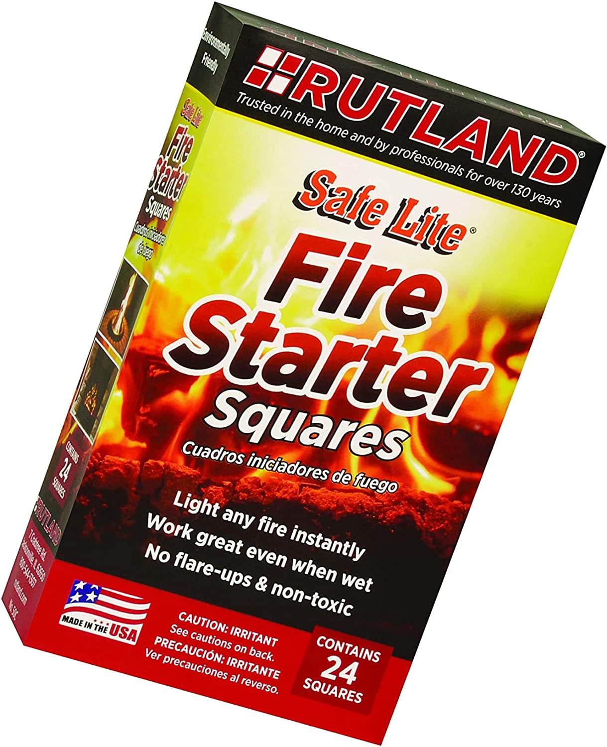 Rutland Products Max 76% OFF Safe Lite Fire Starter 50 Ranking TOP7 squares 24 Squares -