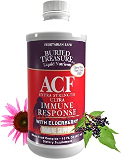 Buried Treasure ACF Extra Strength Extreme Immune Support with Elderberry Echinacea Vitamin C and Herbal Blend for Compreh...
