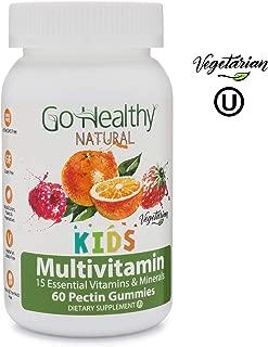 Go Healthy Natural Multivitamin Gummies for Kids, Vegetarian, OU Kosher, Halal (60 ct) 30 Serving