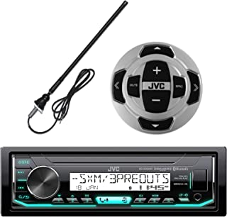 JVC in-Dash Marine Boat Yacht Bluetooth Radio USB Stereo Receiver Player Bundle Combo