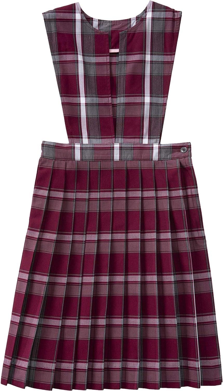 Classroom School Uniform Slit Front Girls Plus Dress 5PC4723A, 14h, Red