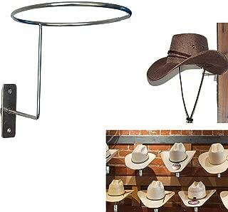 AUXPhome Wall-Mounted Silver Metal Hat & Wig Display Racks/Cowboy Hat Rack Cowboy Hat Holder Coyboy Hat Organizer/Cowgirl Straw Hat Cap Storage Display Holder Rack Dryer Stand Organizer