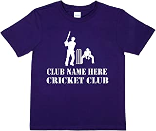 Print4u Cricket Club Name Here Personalised Kids T-Shirt