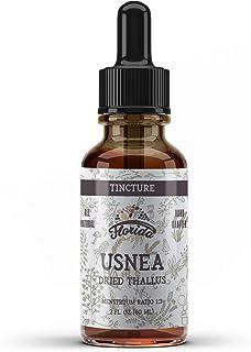 Usnea Tincture Alcohol Free, Organic Usnea Extract (Usnea barbata) Dried Thallus Herbal Supplement, Non-GMO in Cold-Presse...