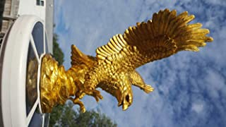 PolePalUSA Eagle in Flight Flagpole Topper Gold Finial Ball