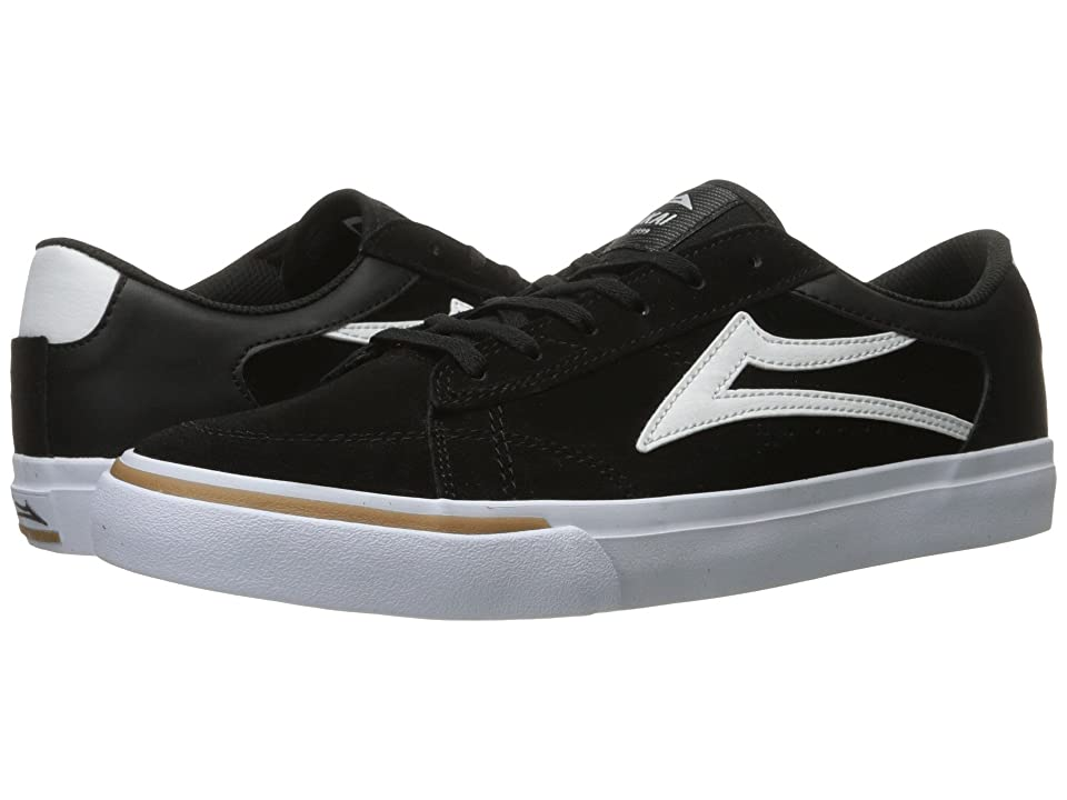 Lakai Ellis (Black/White Suede) Men
