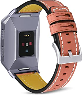 SKYLET for Fitbit Ionic Bands, Classic Genuine Leather Accessories Strap for Fitbit Ionic Smart Watch Wristbands (Watch No...