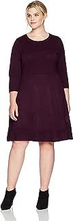 Jessica Howard Women's Plus Size Scoop Neck Fit & Flare Dress
