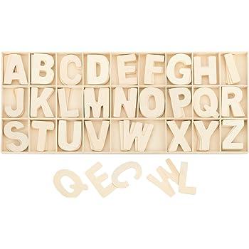 Kleenes Traumhandel Buchstabenkasten Holz Natur - 5,4 cm hoch - je 4 hölzerne Buchstaben - 104 Teile