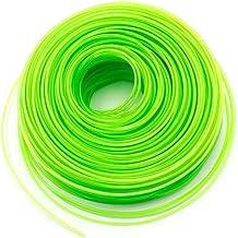 vhbw Maaidraad trimmerdraad met 2 mm diameter voor grastrimmer bosmaaier - 100 meter, groen, nylon, resistent - reservedra...