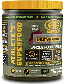 Athlete's Superfood - Great Tasting Concentrated Whole Food Greens Powder, 6-8 Servings Fruit & Veggies Per Scoop - 30 Servings