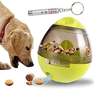 IQ Treat Ball Interactive Toys - Dog Puzzle Cat Treat Dispenser Food Bowl, Improves Digestion, Physical and Mental Stimula...
