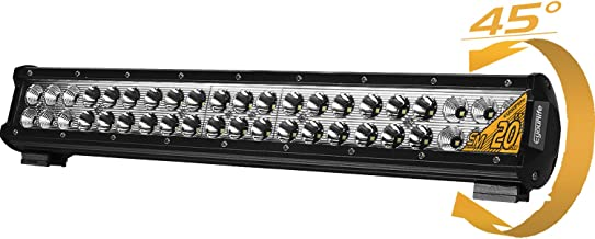 20 Inch Led Light Bar Eyourlife 126W Led Fog Driving Lights Waterproof IP67 Bumper Grill Roof Tail Light Bar Truck Off Road Vehicle with 180 Degree Slide Mounting Brackets