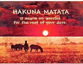 Wee Blue Coo Hakuna Matata No Worries Africa Quote Motivation Typography Unframed Wall Art Print Poster Home Decor Premium