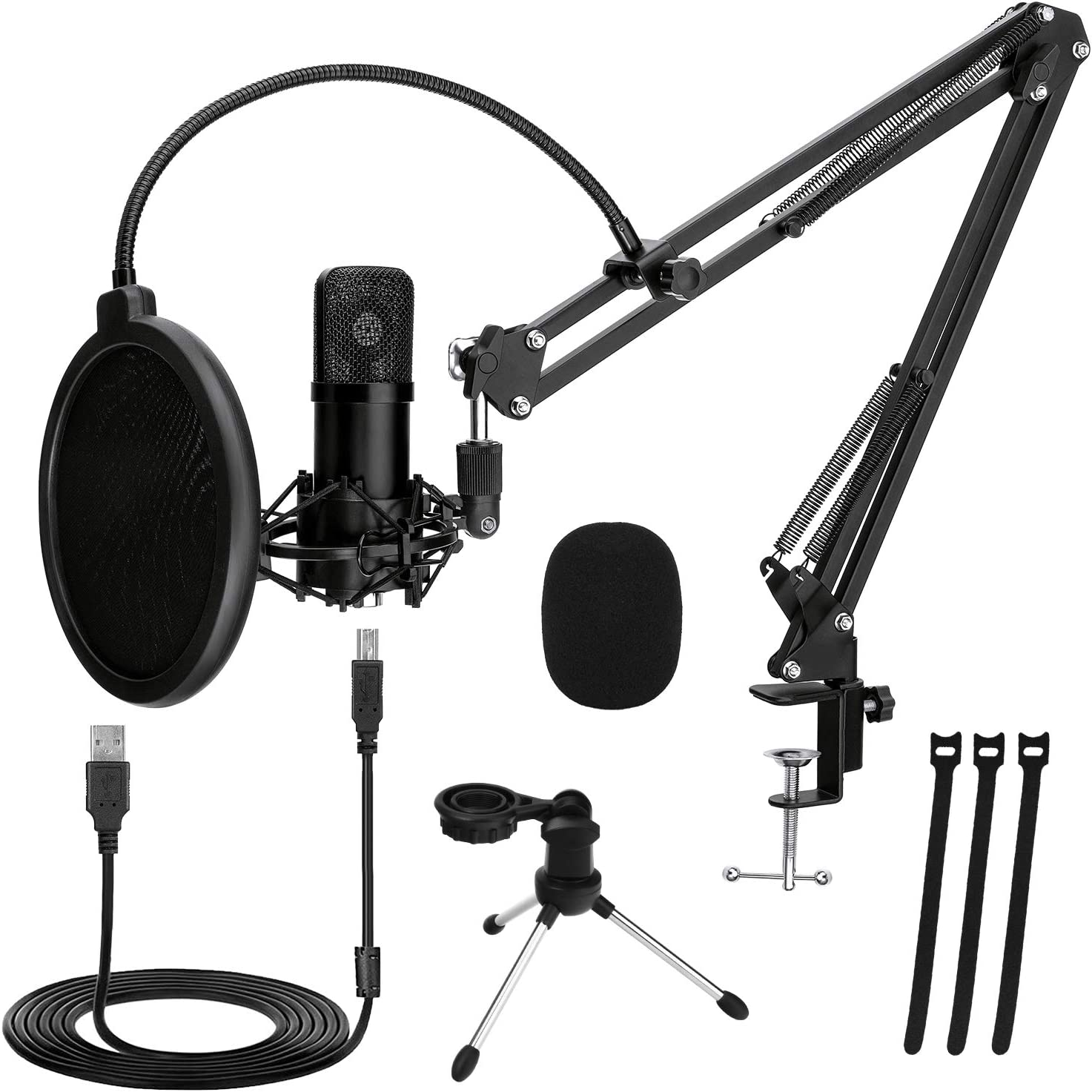 TonyKey Podcast Microphone PC with 2 an Plug Max 40% OFF Max 62% OFF Stands