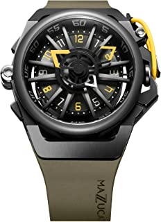 Mazzucato Rim Men`s Reversible Automatic and Chronograph Watch with FKM Rubber Strap Khaki 04-GN136