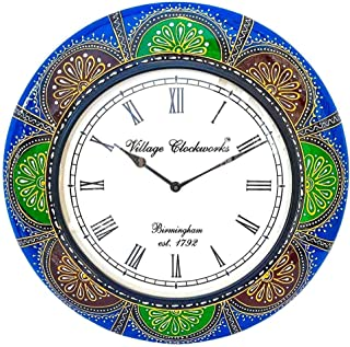 Apka Mart The Online Shop Wooden & Brass Wall Watch 18 Inches for Wall Décor & Gifts