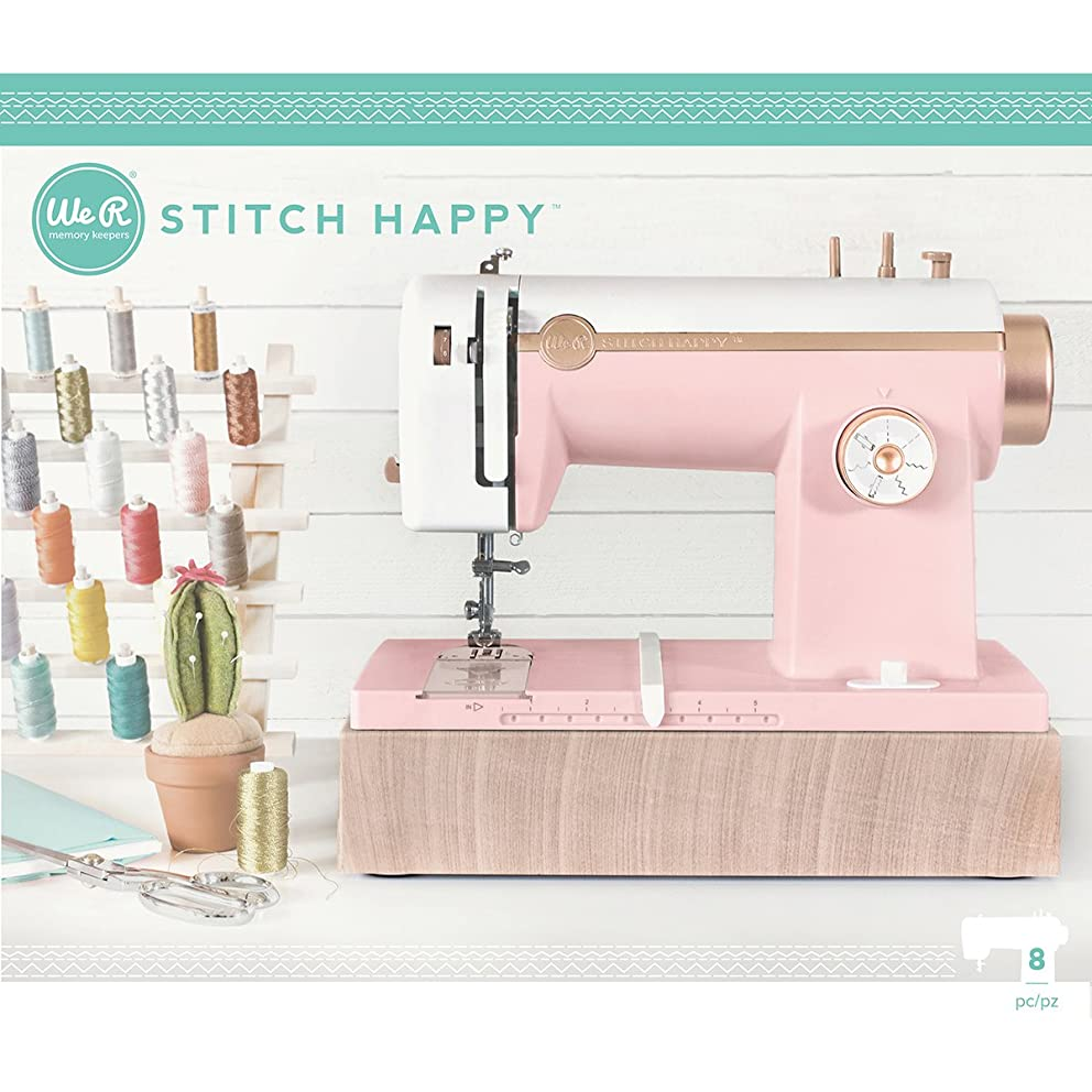 American Crafts We We R Memory Keepers Stitch Happy Pink Sewing Machine,