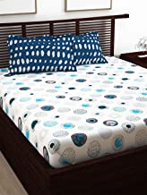 Story at Home 120 TC 100 % Cotton Flat Double Bedsheet with 2 Pillow Cover, Multi-Colour, 225 cm x 235 cm