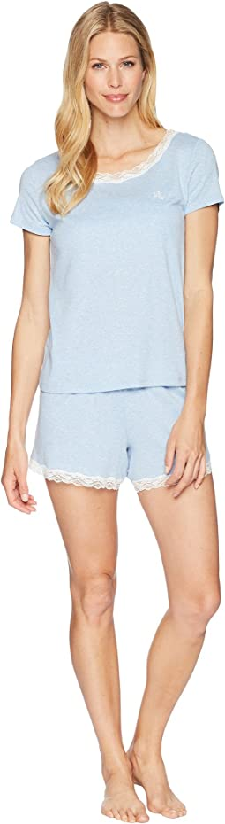 Lace T-Shirt Boxer Pajama Set
