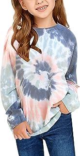 گرمکن کت و شلوار دختران GRAPENT پیراهن کش ورزش آستین بلند Hoodie تاپ 4 تا 13 سال