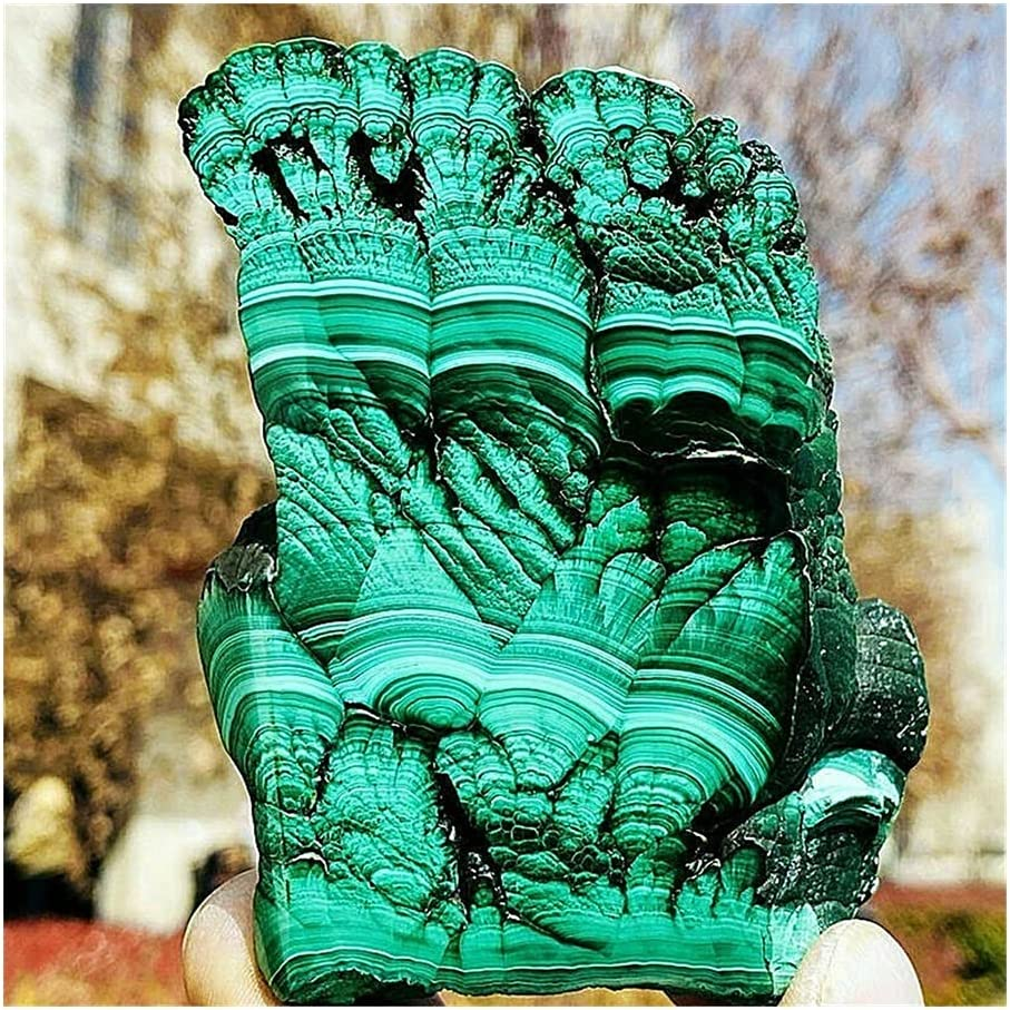 sousy Natural Max 45% OFF Crystals Quartz Specimen Malachite Freefrom Los Angeles Mall Energy