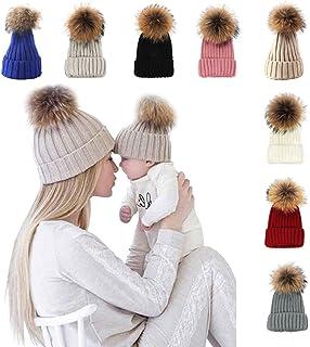 xsby Knitted Cozy Warm Winter Snowboarding Ski Hat with Pom Pom Slouchy Hat 670cafa0c038