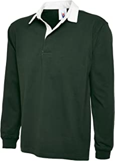 Uneek New Mens Plain Premium Rugby Shirt